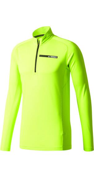 adidas TERREX Tracerocker 1/2 Zip T-Shirts Men semi solar yellow